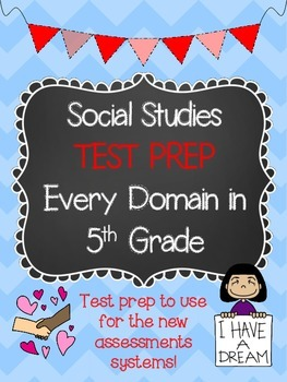 TEST PREP: 5th Grade GPS Social Studies Practice Test {Eve