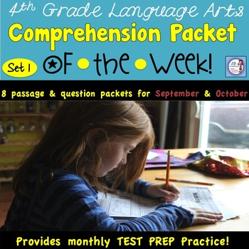 Themed Reading Comprehension Packet #1 (aligned to 3rd-4th grade AIR tests)