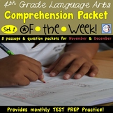 4th Grade Comprehension Packets of the Week (AIR test aligned set 2)
