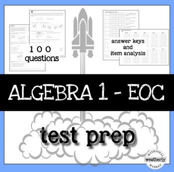 Algebra 1 Review Test Worksheets Teaching Resources TpT