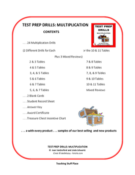 MULTIPLICATION TABLES | Test Prep Drills | NO PREP | Practice |Gr 3 Math CORE