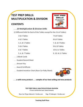 MULTIPLICATION and DIVISION | DRILLS | TEST PREP UNIT | PRACTICE | Grade 3