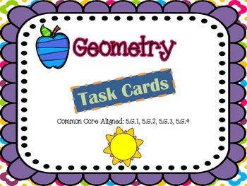 MATH TEST PREP: Geometry Review Task Cards {Milestones)