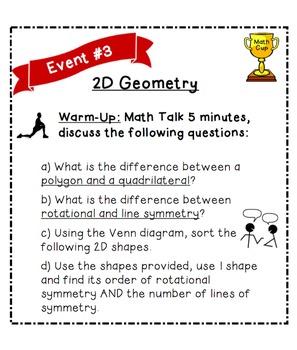 Gr.6 TEST PREP  Math Cup Challenge! Review all strands! NO PREP, PDF