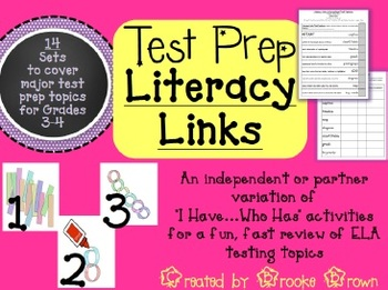 "TEST PREP ""Literacy Links"" Bundle {Freebie in the Preview!}"