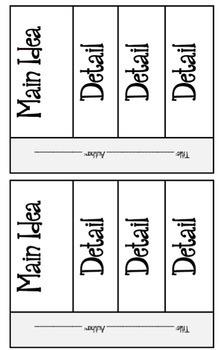 NO PREP Main Idea Reading Response Unit, Smartboard and PDF