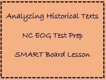 TEST PREP!  NC EOG prep: Analyzing Historical Texts