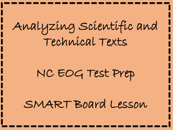 TEST PREP!  NC EOG prep: Analyzing Scientific and Technical Texts
