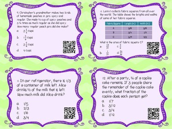 MATH TEST PREP: Numbers and Fractions Review Task Cards {Milestones}