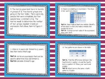 MATH TEST PREP: Operations & Algebraic Thinking Review Task Cards {Milestones}