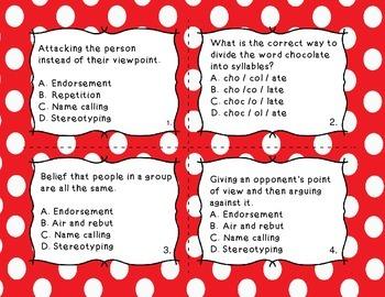 TEST PREP [Part 2] Task Cards