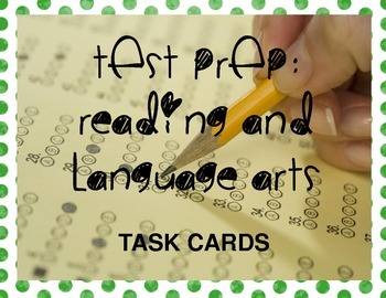TEST PREP: ELA and Reading, Task Cards and Kaboom