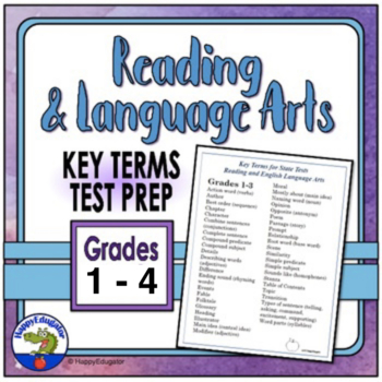 TEST PREP: Reading and Language Arts Academic Vocabulary Grades 1 - 3