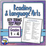 TEST PREP: Reading and Language Arts Academic Vocabulary Grades 1 - 3