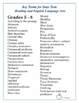TEST PREP: Reading and Language Arts Academic Vocabulary Grades 4 - 8