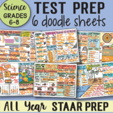 TEST PREP Review Doodle Sheets Grades 6-8 Science - Easy t
