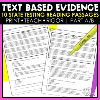 Reading Comprehension Passages and Questions - Test Prep - State Testing Prep