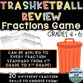 TEST PREP--Trashketball Review Game for Fractions-4th-6th