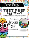 TEST PREP EASTER egg hunt (grades 3 - 4 ) comprehension questions