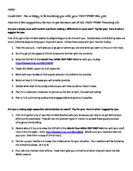 TEST PREP in 5 Smart Simple Steps Planning KIT!