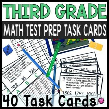 Third Grade Math Test Prep Centers and Activities Set
