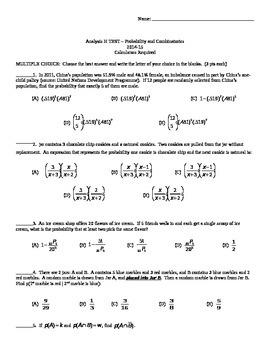 TEST - Probability