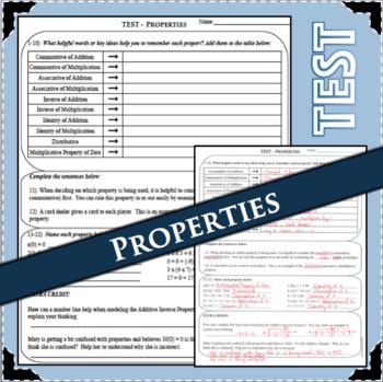 TEST Properties Summative Assessment