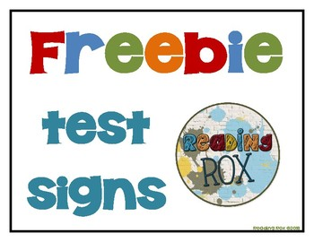TEST-TAKING SIGNS freebie