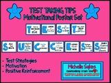 TEST TAKING TIPS Motivational Poster Set- Blue