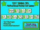TEST TAKING TIPS Motivational Poster Set - Green