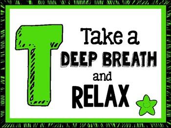 TEST TAKING TIPS Motivational Poster Set - Green