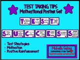 TEST TAKING TIPS Motivational Poster Set- Purple