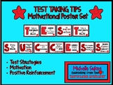 TEST TAKING TIPS Motivational Poster Set - Red