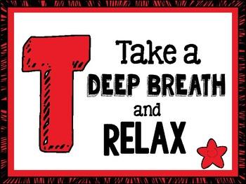TEST TAKING TIPS Motivational Poster Set - Red