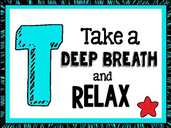 TEST TAKING TIPS Motivational Poster Set - Turquoise with Red
