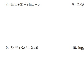 TEST - logs & exponents