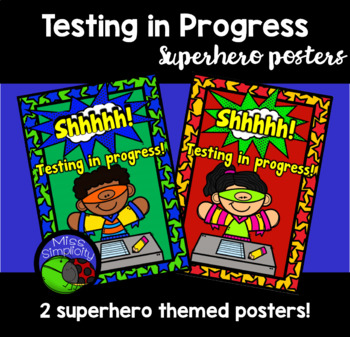 TESTING IN PROGRESS superhero posters