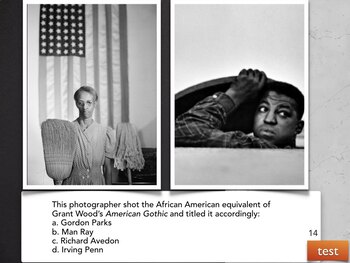 African American Art History Visual Multiple Choice TESTS