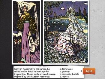German Russian Art Visual Multiple Choice TESTS