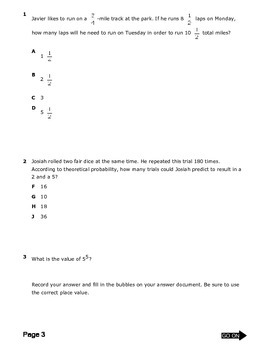 TEXAS 7th GRADE MATH STAAR PRACTICE 1