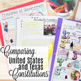 Texas History 7th Grade - Comparing the Texas and US Constitution