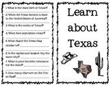 TEXAS Comprehension reading passage and questions