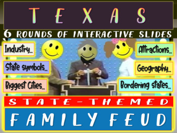 TEXAS FAMILY FEUD! Engaging game about cities, geography,