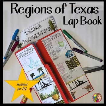 TEXAS GEOGRAPHY LAP BOOK - Modified for ELL