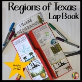 TEXAS GEOGRAPHY LAP BOOK - Modified for ELL or 4th Grade