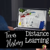 TEXAS HISTORY DISTANCE LEARNING FOR GOOGLE DRIVE OR PACKETS