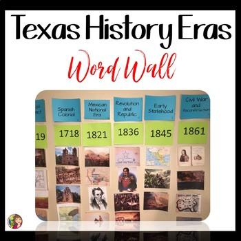 TEXAS HISTORY ERAS WORD WALL