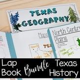 TEXAS HISTORY LAP BOOK BUNDLE for 7th Grade
