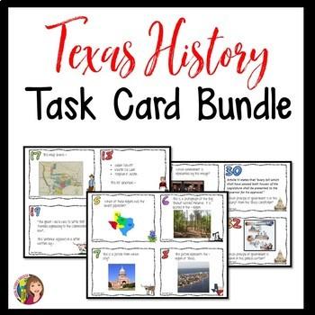 TEXAS HISTORY TASK CARDS BUNDLE