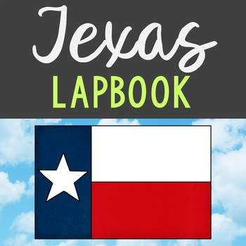 TEXAS State History Lapbook Project, State Symbols, Stress-Free Design